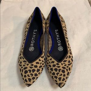 Rothy's Cheetah Pointy Flat